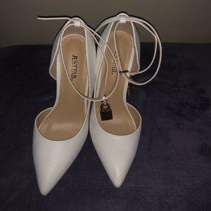 White heels size 9